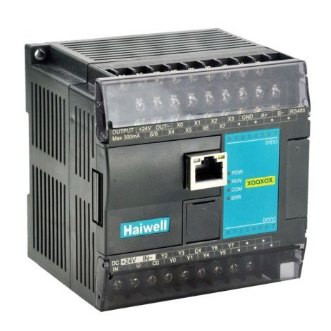 C10S0R-e Economic Haiwell PLC, 6DI / 4DO, Relay output, Ethernet + RS232 + RS485